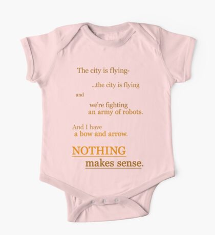 Quotes and quips - nothing makes sense One Piece - Short Sleeve