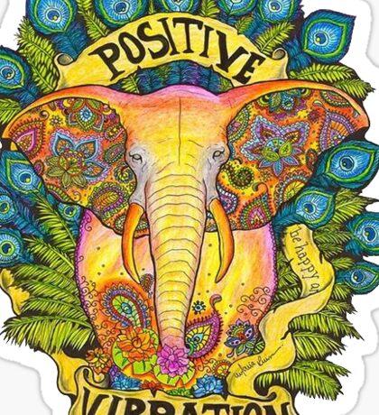 Positive Elephant Sticker