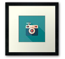 Camera with Flash Framed Print