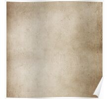 Vintage Tan Brown Parchment Antique Paper Grunge Background Poster
