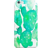Green Watercolour Cactus iPhone Case/Skin