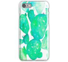 Green Watercolour Cactus iPhone Case/Skin