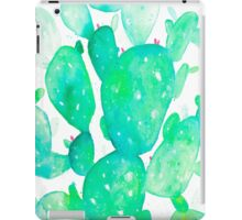 Green Watercolour Cactus iPad Case/Skin