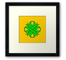 Lime Green Clover Ribbon Framed Print