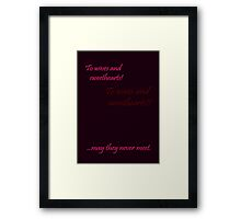 Quotes and quips - wives and sweethearts Framed Print