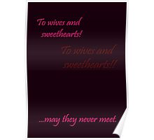 Quotes and quips - wives and sweethearts Poster