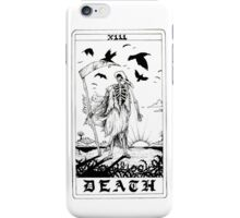 Death Tarot Card - Ink Drawing iPhone Case/Skin