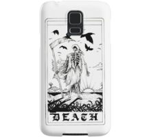 Death Tarot Card - Ink Drawing Samsung Galaxy Case/Skin
