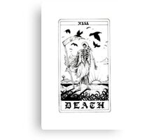 Death Tarot Card - Ink Drawing Canvas Print