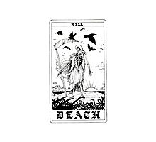 Death Tarot Card - Ink Drawing Photographic Print