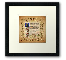 And he heard a little voice speak - French Version Framed Print