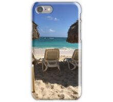 dominican republic summer beach scene iPhone Case/Skin