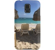 dominican republic summer beach scene Samsung Galaxy Case/Skin
