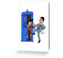 SuperWho? Greeting Card