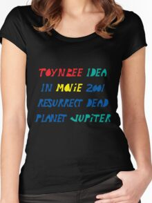 Toynbee Idea Tiles Mysterious Planet Jupiter Resurrect Dead Women's Fitted Scoop T-Shirt