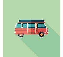 Retro Minivan Photographic Print