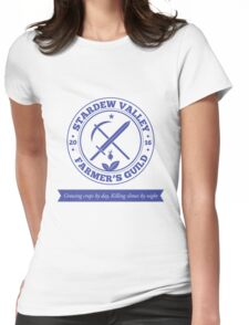 Stardew Valley Farmer's Guild Crest Redux Womens Fitted T-Shirt