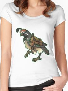Skytown Gambels Quail Steed Women's Fitted Scoop T-Shirt