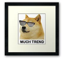 MUCH TREND Doge  Framed Print