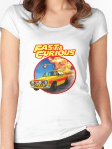 Fast & Curious   Women's Fitted Scoop T-Shirt