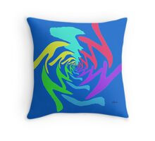 Abstract Design 414C Fractal Throw Pillow