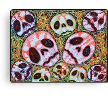 Web of Skulls Canvas Print