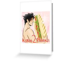 Kuroo 2 Panini Greeting Card