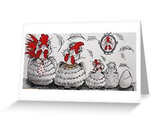 Chooky Family Portrait Greeting Card