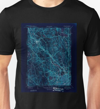 USGS TOPO Map Rhode Island RI Pawtucket 353436 1944 31680 Inverted Unisex T-Shirt