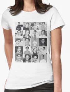 Tyler Posey collage Womens Fitted T-Shirt