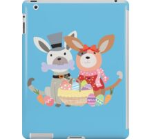 Cartoon Animals Easter Puppy Dog Bunnies iPad Case/Skin