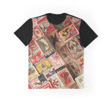 Retro Vintage Matchboxes Graphic T-Shirt
