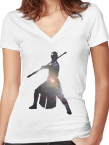 Rey Women's Fitted V-Neck T-Shirt