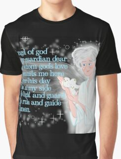 Pray To Your Guardian Angel Graphic T-Shirt