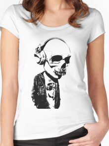 HIPSTERSKULL Women's Fitted Scoop T-Shirt