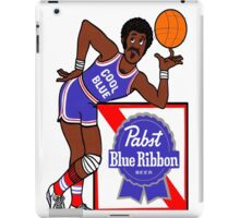 Pabst Blue Ribbon - Cool Blue Basketball Player iPad Case/Skin