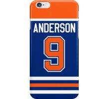 Edmonton Oilers Glenn Anderson Away Jersey Back Phone Case iPhone Case/Skin