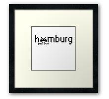 Hamburg Press Start Framed Print