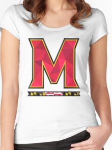 University of Maryland Geometric Logo Women's Fitted Scoop T-Shirt