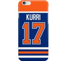 Edmonton Oilers Jari Kurri Away Jersey Back Phone Case iPhone Case/Skin