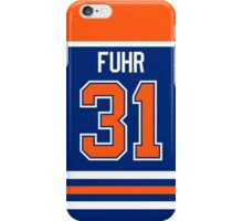 Edmonton Oilers Grant Fuhr Away Jersey Back Phone Case iPhone Case/Skin