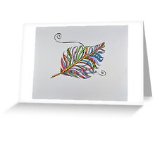 Feathers/3 - Colorful/2 Greeting Card