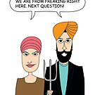 American Gothic: We are from right here. by Vishavjit Singh