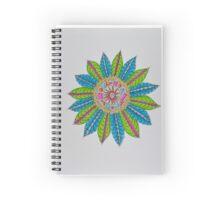Mandala/7 - Feathered Flower Spiral Notebook