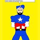 Captain America in a Turban by Vishavjit Singh