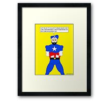 Captain America in a Turban Framed Print