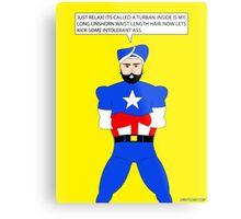 Captain America in a Turban Metal Print