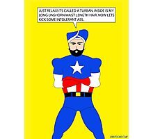 Captain America in a Turban Photographic Print