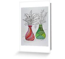 Flowers/9 - B&W Flowers Greeting Card