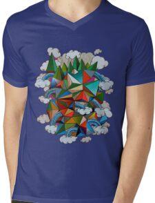 Flying Forest Mens V-Neck T-Shirt